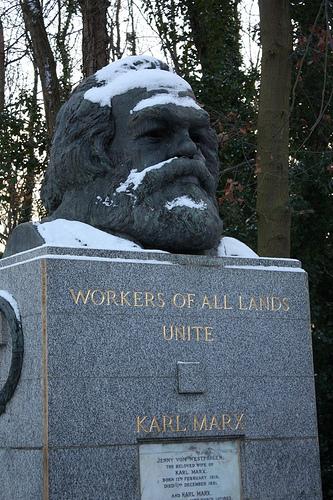 Marx im Schnee!